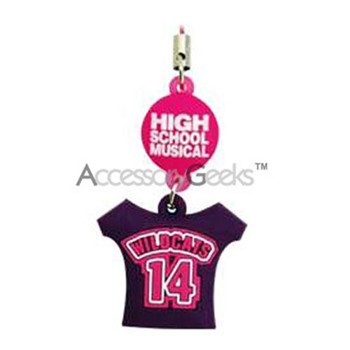 Mobo Disney High School Musical Wildcats 14 T-Shirt Cell Phone w/ Purple Flashing Strap/Charm