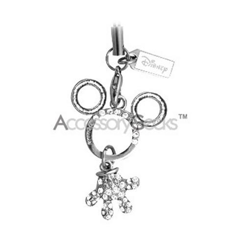 MOBO Disney Licensed Mickey Mouse and Clear Stones Charm/Strap