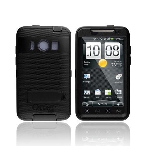 Original Otterbox HTC EVO 4G Silicone Over Hard Defender Series Case w/ Holster and Stand, HTC2-EVO4G-20-C4OTR - Black