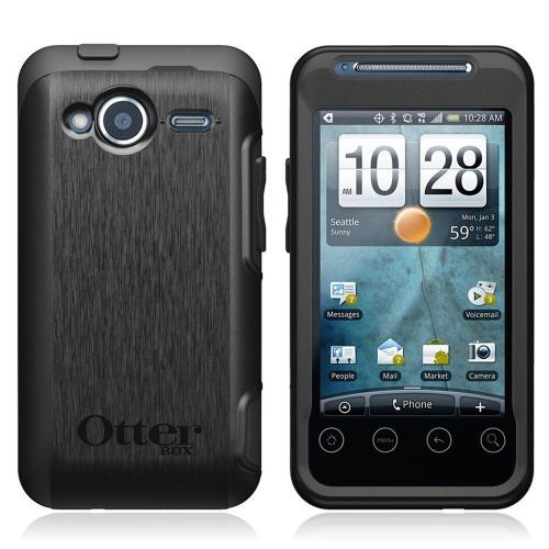 Original Otterbox Commuter Series HTC EVO Shift 4G Siilcone Case Hard Back w/ Screen Protector, HTC4-EVOSH-20-E4OTR - Black