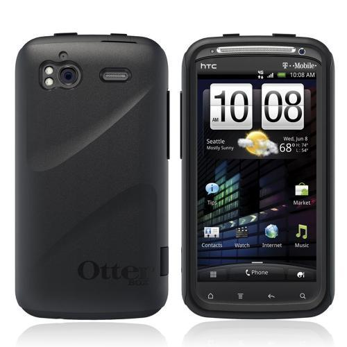 Original Otterbox Commuter Series HTC Sensation 4G Hard Cover Over Silicone Case w/ Screen Protector, HTC4-SENSA-20-E4OTR - Black