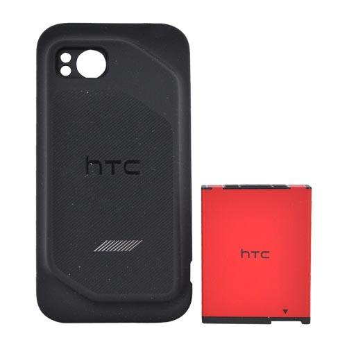 Original Verizon HTC Rezound Extended Battery (2750 mAh) w/ Rubberized Door, HTC6452BATX - Black