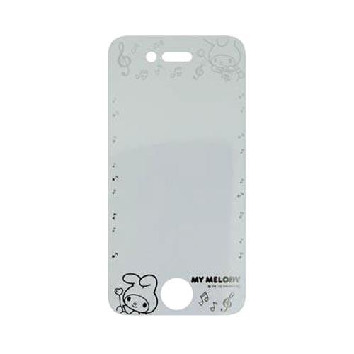 Officially Licensed Sanrio My Melody AT&T/ Verizon Apple iPhone 4, iPhone 4S iDress Screen Protector, I4S-SF3MM - Transparent w/ Silver Music Notes