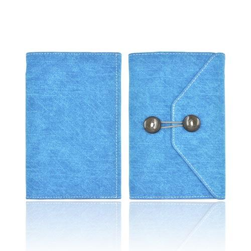 Original iLuv Dungarees Amazon Kindle Fire Portfolio Envelope Canvas Stand Case, IAK505BLU - Light Blue Jean/ White