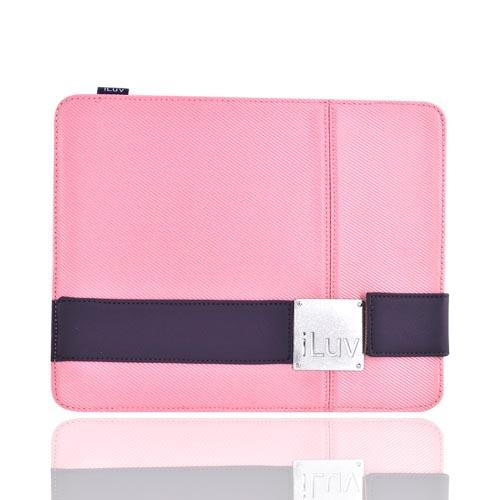 Original iLuv Apple iPad (All Gen.) Textile Case w/ Leather Band Clip, ICC805 - Pink