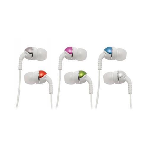 Original Scosche Increased Dynamic Range Universal Cameleon Earphones, IDR355M - Colorful/White (3.5mm)