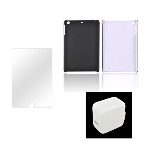 Apple iPad Mini Essential Bundle Package w/ Black Rubberized Hard Case, Anti-Glare Screen Protector, & Lightning Cable
