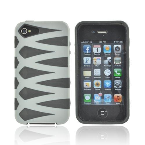 AT&T/ Verizon Apple iPhone 4, iPhone 4S Fusion Candy Case - Gray/ Black