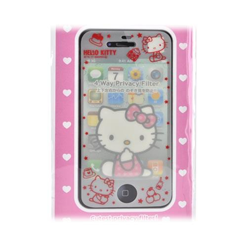 Officially Licensed Sanrio Hello Kitty AT&T/ Verizon Apple iPhone 4, iPhone 4S Mail Block 4 Way Privacy Screen Protector, IP4-MB2KT - White/ Red Tea Party