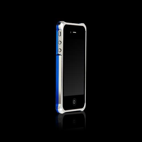 Original Hornettek Vader AT&T/ Verizon iPhone 4, iPhone 4S Dual Shell Aluminum Case, IP4AL01-SB - Silver/ Blue
