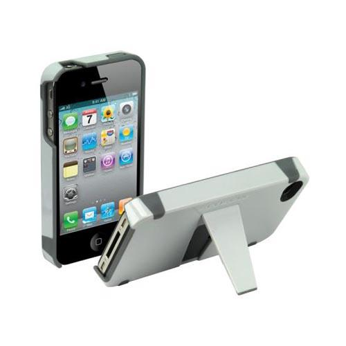 Original Scosche KickBack Apple Verizon/ AT&T iPhone 4, iPhone 4S Hard Case w/ Kickstand, IP4KG - Gray