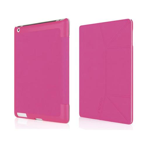 Original Incipio LGND Slim Folio Apple iPad 2/ New iPad Suede Hard Case Stand, IPAD-287 - Pink