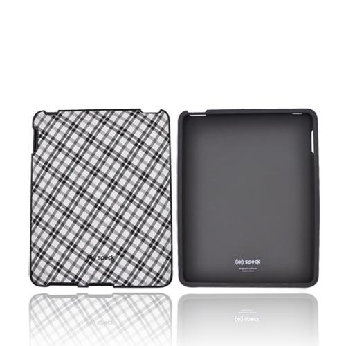 Original Speck Apple iPad (1st Gen) Fitted Snap-On Case, iPad (1st Gen)-FTD-A02A012 - Black & Grey Plaid