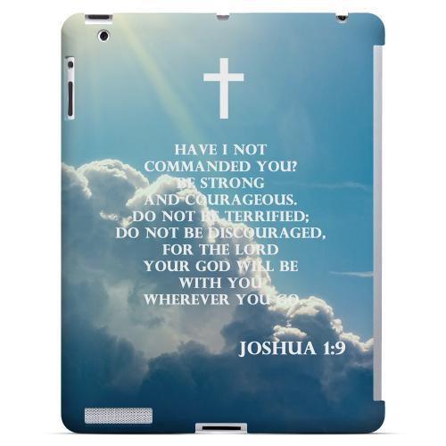 Geeks Designer Line (GDL) Bibles Series Apple iPad 2/3 Slim Hard Back Cover - Joshua 1:9