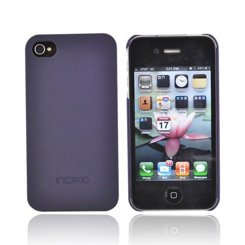 Original Incipio Apple Verizon/ AT&T iPhone 4, iPhone 4S Ultra Thin Feather Hard Case w/ 2 Screen Protector, IPH-522 - Paparazzi Purple