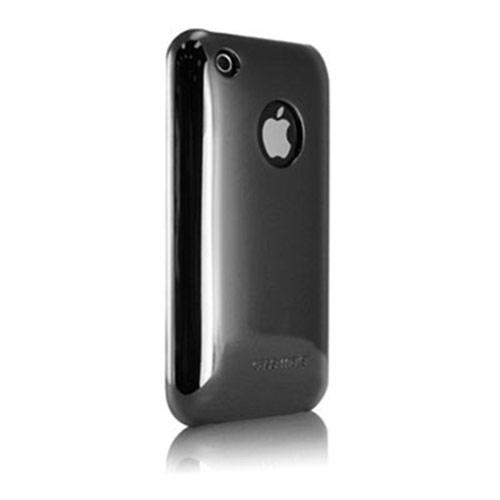 Original Case-Mate Apple iPhone 3g Barely There Case w/ Invisible Film - Metallic Silver (Mirror)
