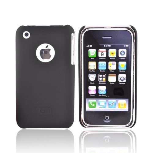 Original Case-Mate Apple iPhone 3G 3GS Barely There Rubberized Back Cover Case, IPH3GBTX-BLK - Black
