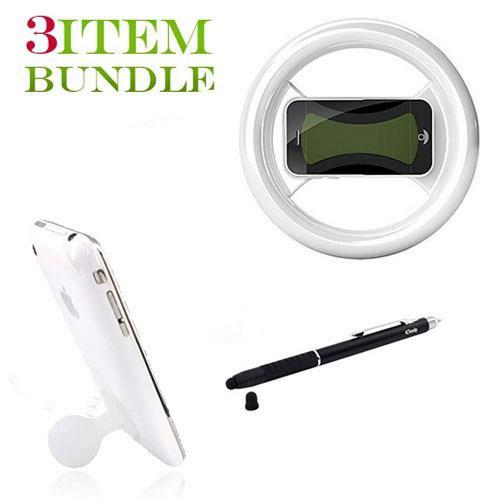 Apple iPhone 4 Bundle Package - Clingo Game Wheel, iClooly Stylus & Suction Stand - (Gamer Combo)