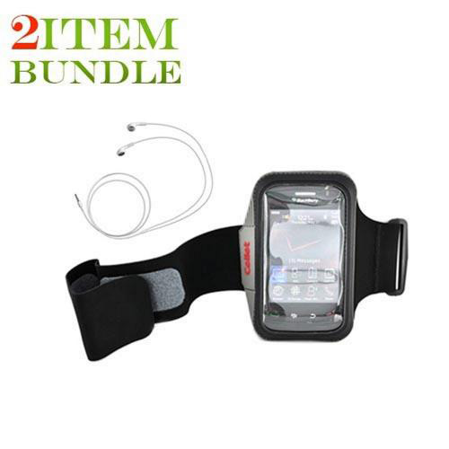 Apple iPhone 4 Bundle Package - Black Armband & Apple Stereo Headset - (Athlete Combo)