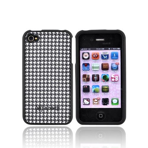 Speck Rubberized Hard Fitted Case w/ Fabric Dalmatian Houndstooth for Apple iPhone 4/4S - IPH4FTD-A02A026