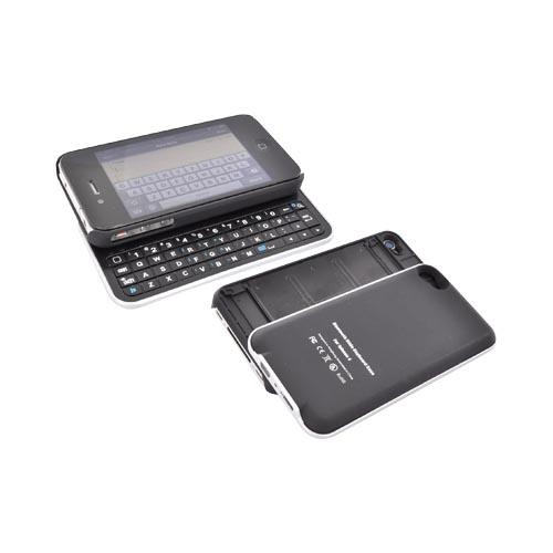 Premium AT&T/ Verizon iPhone 4 Bluetooth Slide Keyboard Case - Black