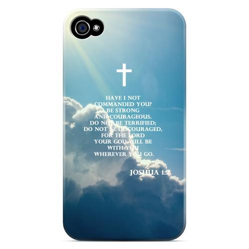 Geeks Designer Line (GDL) Bibles Series Apple iPhone 4 Matte Hard Back Cover - Joshua 1:9