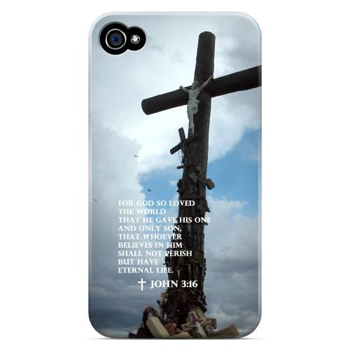 Geeks Designer Line (GDL) Bibles Series Apple iPhone 4 Matte Hard Back Cover - John 3:16