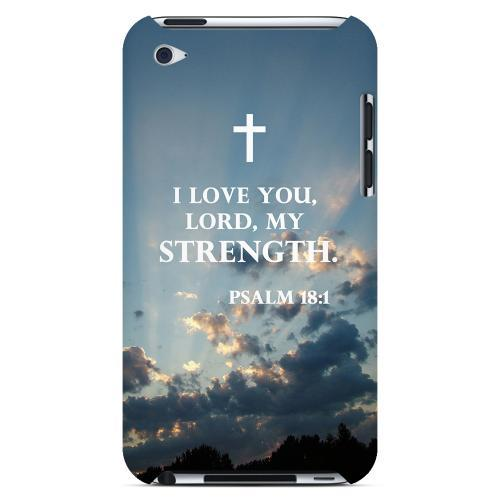 Geeks Designer Line (GDL) Bibles Series Apple iPod 4 Slim Hard Back Cover - Psalm 18:1