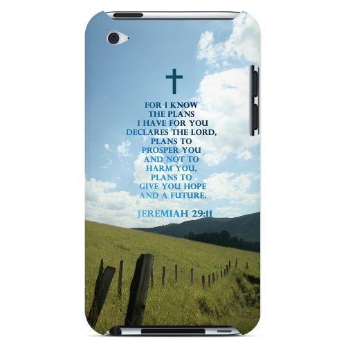 Geeks Designer Line (GDL) Bibles Series Apple iPod 4 Slim Hard Back Cover - Jeremiah 29:11