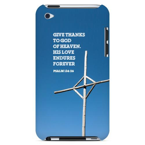 Geeks Designer Line (GDL) Bibles Series Apple iPod 4 Slim Hard Back Cover - Psalm 136:26