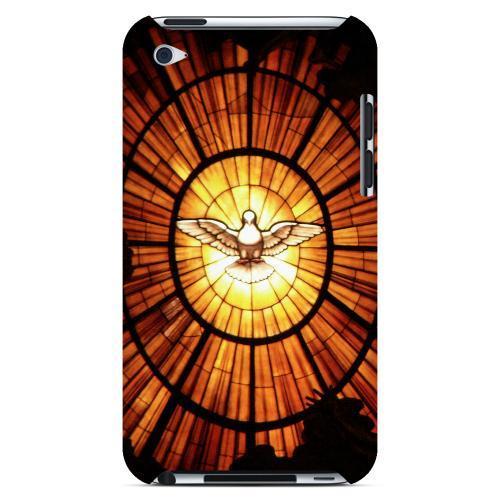 Geeks Designer Line (GDL) Bibles Series Apple iPod 4 Slim Hard Back Cover - Holy Spirit Glass