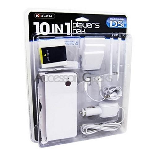 KUMA Nintendo DSi 10 in 1 Player's Pak - White