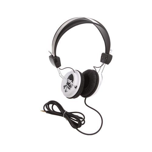 Original KonoAudio Universal Headphones w/ Ear Cushions (3.5mm), KA-ROH-108 - Black/ White Skulls