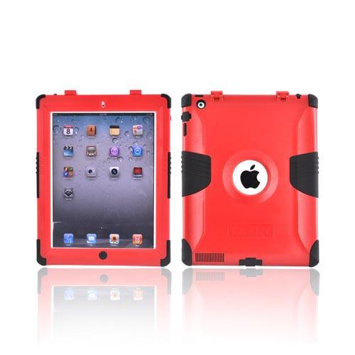 Original Trident Kraken Apple iPad 2 Hard on Silicone Case w/ Built-In Screen Protector, KKK2-IPAD-2-RD - Red/ Black
