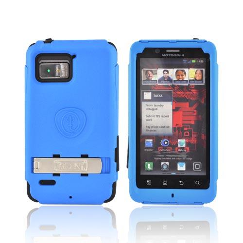 Original Trident Kraken Motorola Droid Bionic Hard Case Over Silicone w/ Screen Protector, Kickstand, & Belt-Clip, KKN2-BIO-BL - Blue/ Black