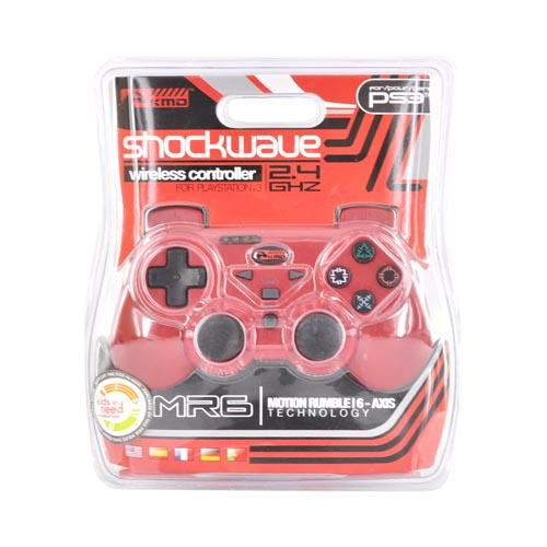 Original KMD PS3 Wireless MR6 Shockwave Controller (2.4 GHz), KMD-P3-8702 - Red