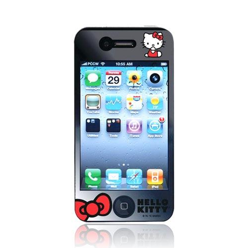 Original Hello Kitty AT&T/Verizon Apple iPhone 4 Premium & Mirror Screen Protector, KT448 (2 Pack)