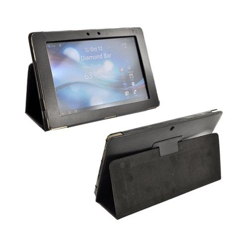 Premium Asus Transformer TF101 Leather Stand Case w/ Magnetic Closure - Black