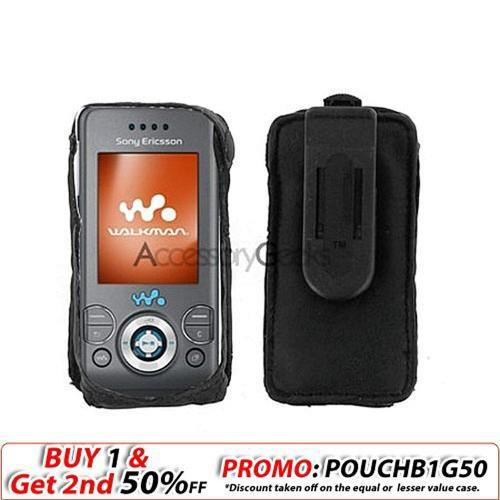 Sony Ericsson W580i/S500 Leather Case - Black