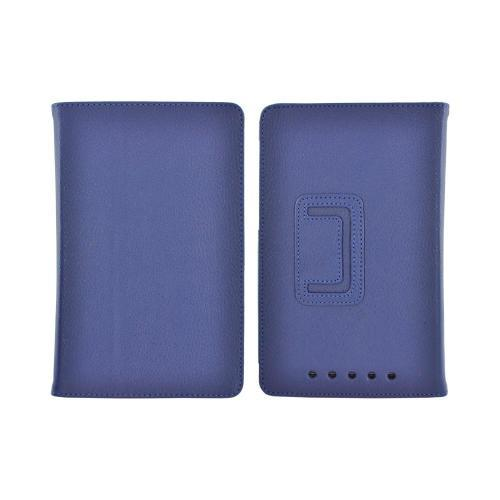 Google Nexus 7 Leather Stand Case w/ Magnetic Closure - Blue