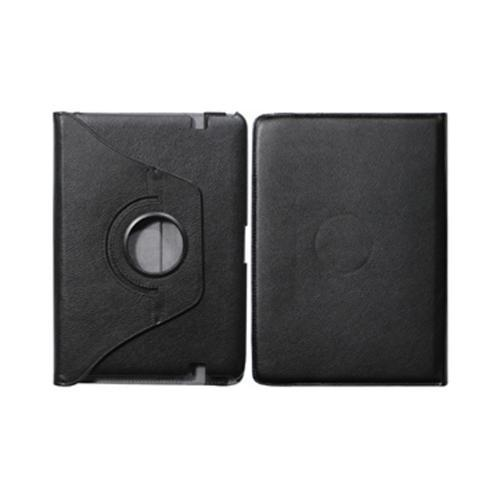 Black Leather Case Stand w/ Rotatable Shield for Amazon Kindle Fire HD 8.9
