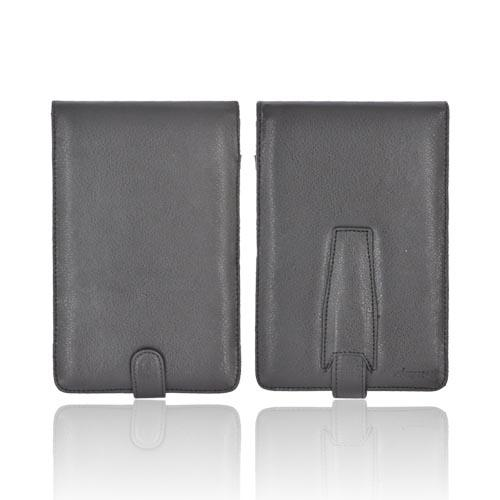 Amazon Kindle 2 & 3 Leather Case w/ Snap Closure - Black