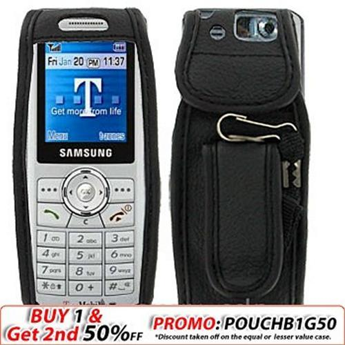 Samsung T509 Black Leather Case