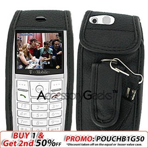 Samsung T519 Black Leather Case