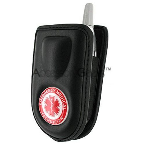 Emergency Medical Technician (EMT) Cell Phone Pouch for Flip & Bar Phones
