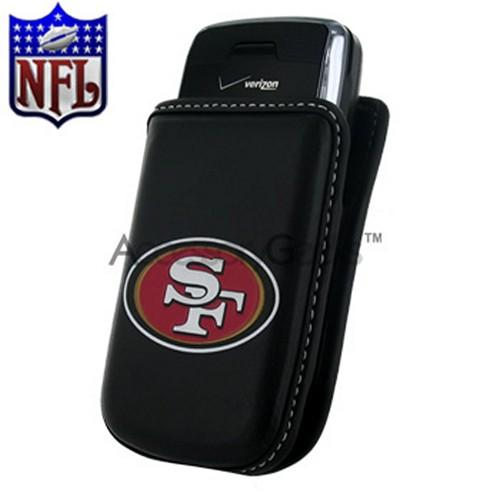 NFL Licensed Vertical Cell Phone Pouch w/ Belt Clip - San Francisco 49ers