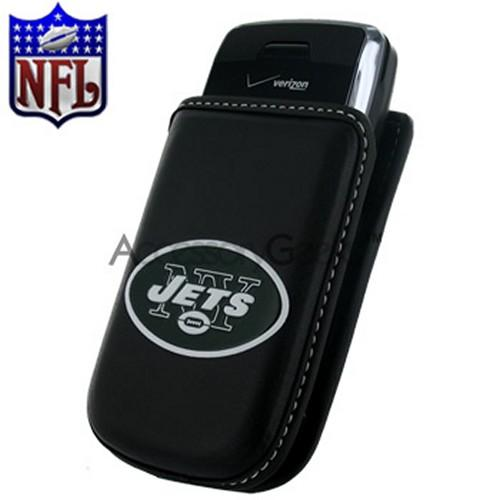 NFL Licensed Vertical Cell Phone Pouch w/ Belt Clip - New York Jets