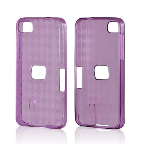 Argyle Purple Crystal Silicone Case for BlackBerry Z10