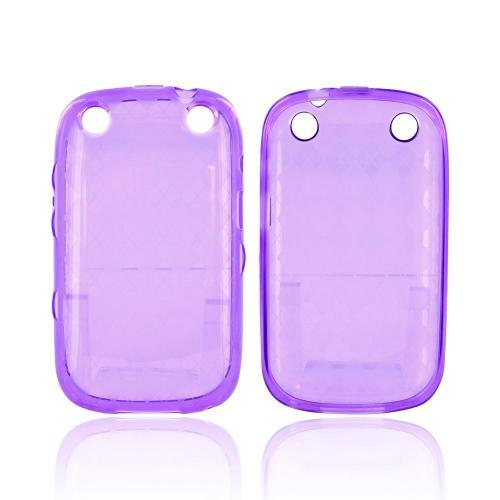 BlackBerry Curve 9310/9320 Crystal Silicone Case - Argyle Purple