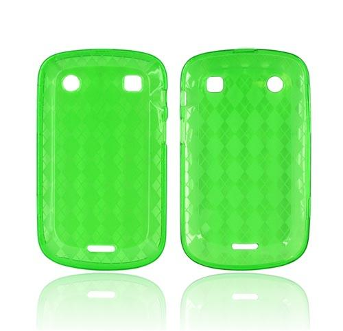 Blackberry Bold 9900, 9930 Crystal Silicone Case - Argyle Green